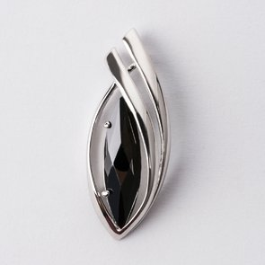 Pandantiv din argint cu piatra neagra 38034