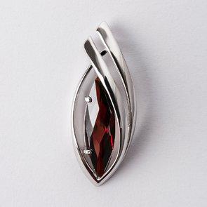 Pandantiv din argint cu piatra rosie 38029