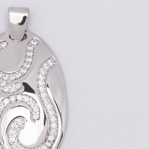 Pandantiv din argint cu pietre de zirconiu 38064