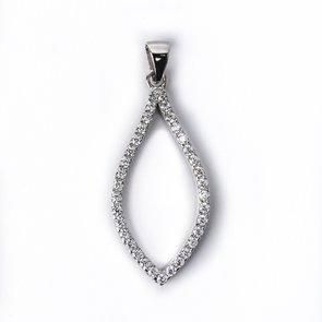 Pandantiv din argint cu pietre cubic zirconia 42959