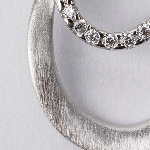 Pandantiv din argint cu pietre de zirconiu albe 36231