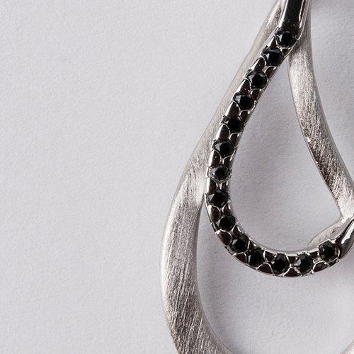 Pandantiv din argint cu pietre de zirconiu negre 36232