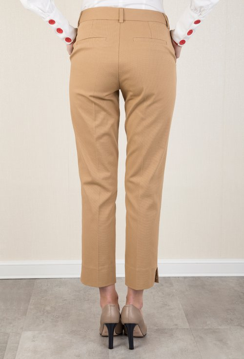 Pantaloni bej din bumbac Juliet