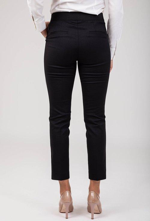 Pantaloni negri cu dunga alba laterala Artemis