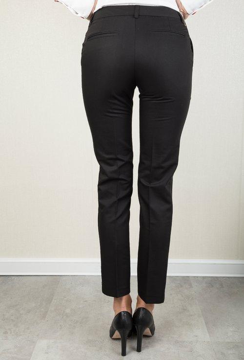 Pantaloni negri din satin Lidia