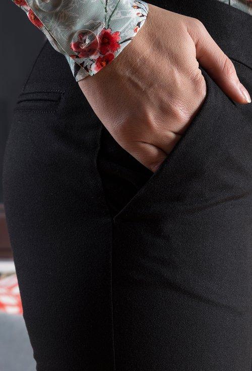 Pantaloni office negri Agnes