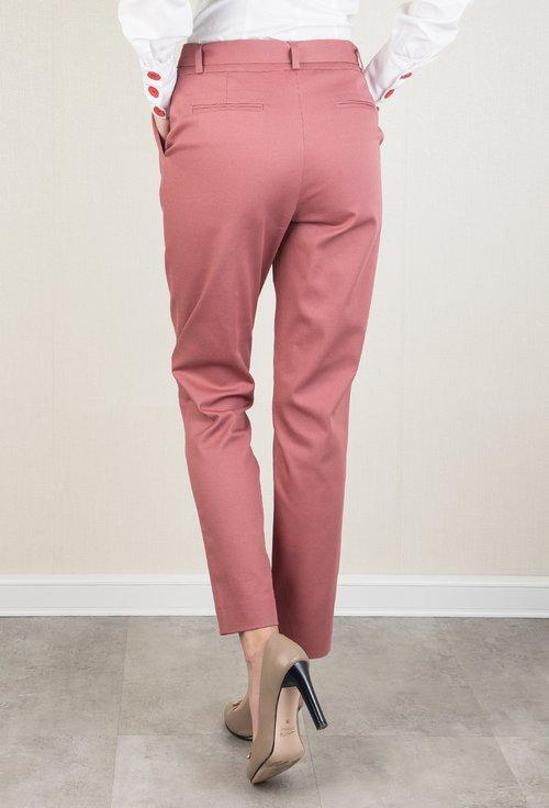 Pantaloni office nuanta roz trandafiriu Eleonora