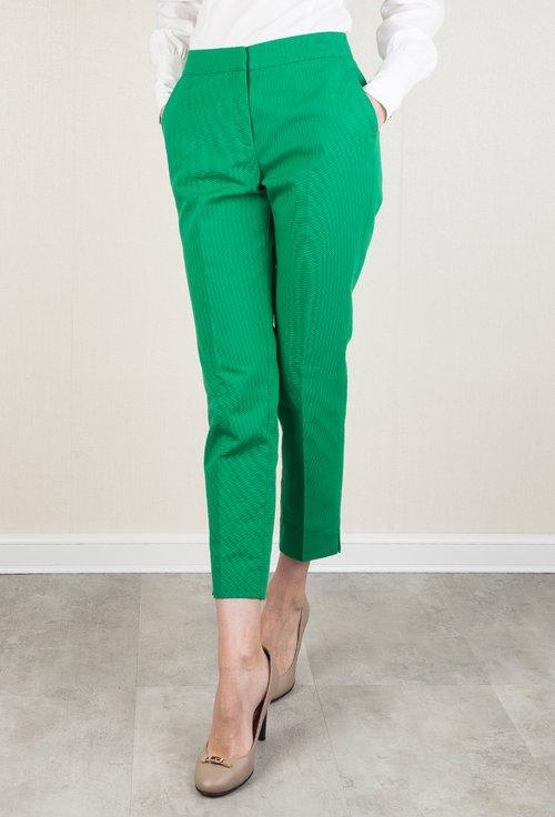 Pantaloni office verzi cu buzunare laterale Lucas