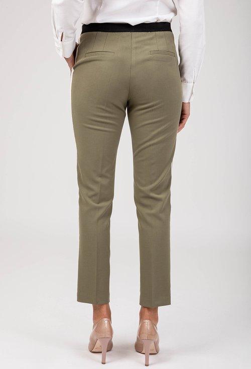 Pantaloni olive cu dunga laterala Artemis