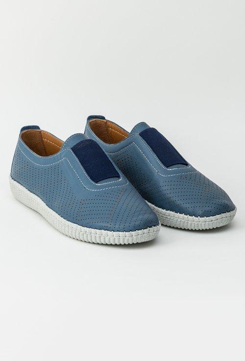 Pantofi bleu din piele naturala Alea
