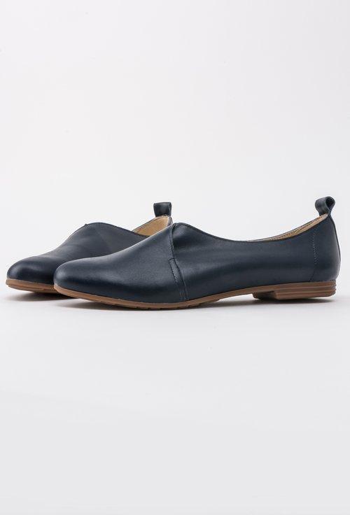 Pantofi bleumarin din piele naturala Ava