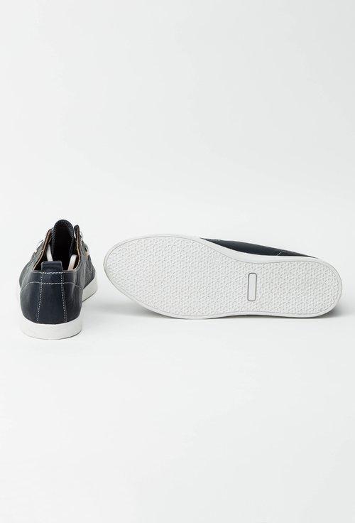 Pantofi bleumarin inchis din piele naturala Aminia
