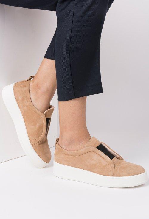 Pantofi camel din piele naturala Ily