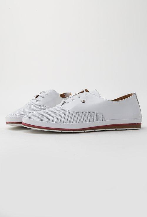 Pantofi casual albi din piele naturala Will