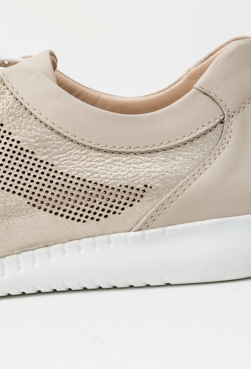 Pantofi casual bej-auriu din piele naturala Freddie