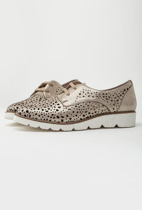 Pantofi casual bej din piele naturala Samara