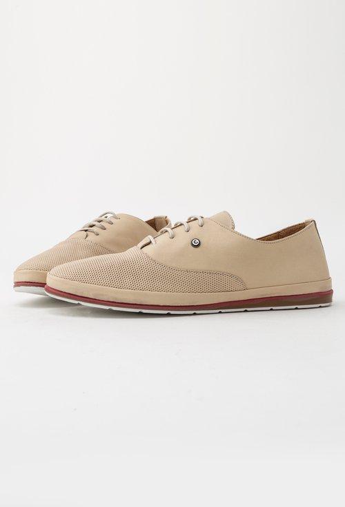 Pantofi casual bej din piele naturala Will