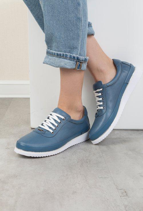 Pantofi casual bleu din piele naturala Adonis