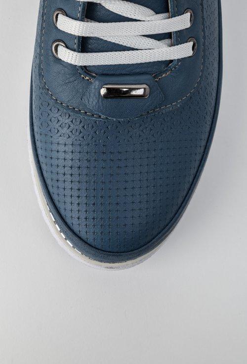 Pantofi casual bleu din piele naturala Elixir