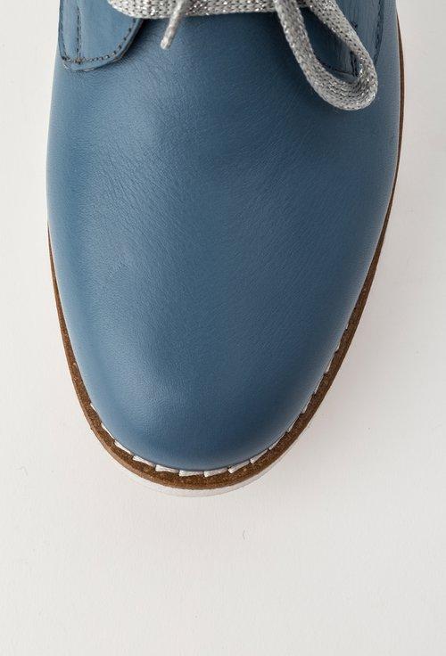 Pantofi casual bleu din piele naturala Rosana
