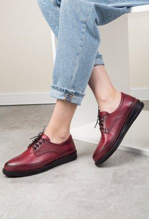 Pantofi casual bordo din piele naturala Ringo