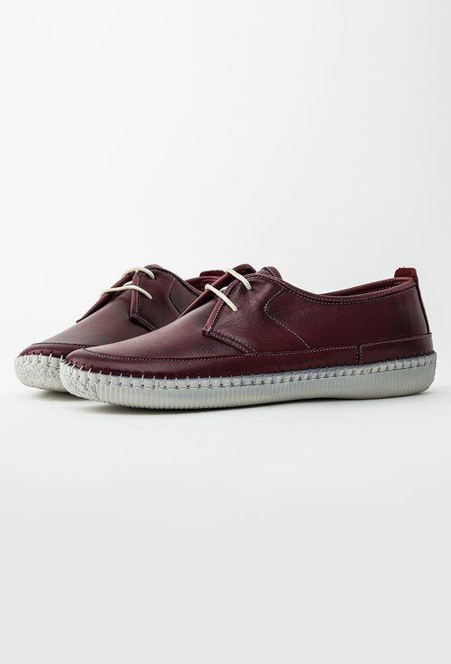 Pantofi casual bordo din piele naturala Vero