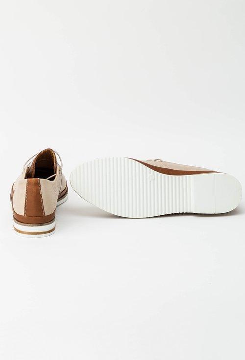 Pantofi casual crem din piele naturala Sorana