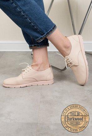Pantofi casual Darkwood nude din piele naturala Iliana