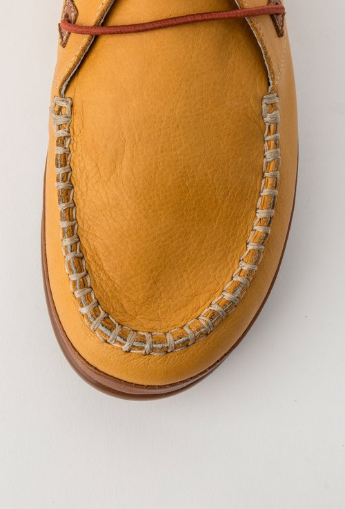 Pantofi casual galbeni din piele naturala Elvira