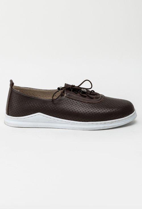 Pantofi casual maro brun din piele naturala Jacob