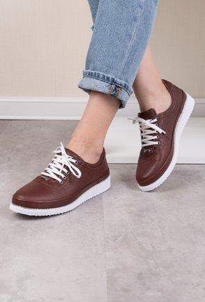Pantofi casual maro din piele naturala Adonis