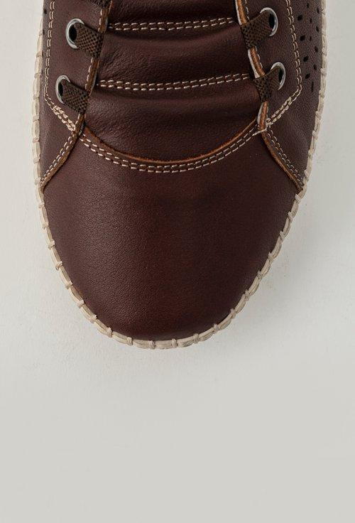 Pantofi casual maro din piele naturala Benjamin