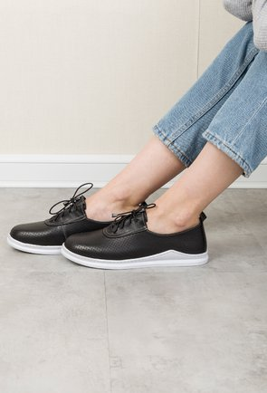 Pantofi casual negri din piele naturala Jacob