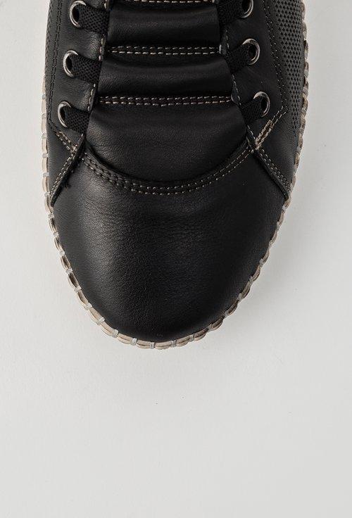 Pantofi casual negri din piele naturala Patricia