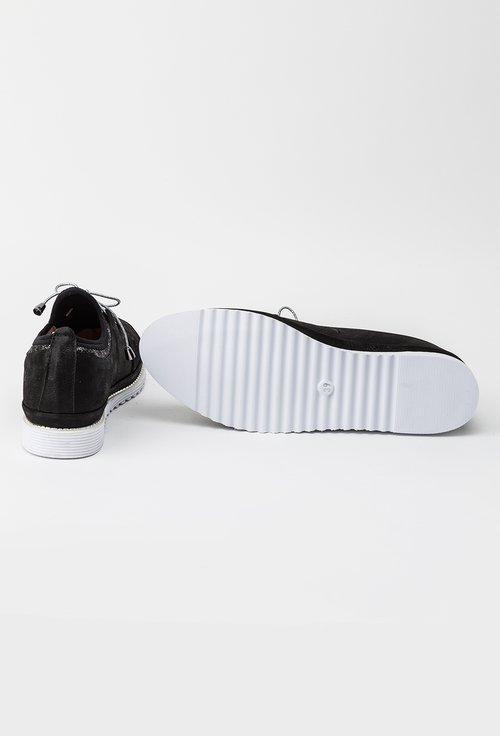 Pantofi casual negri din piele naturala Star