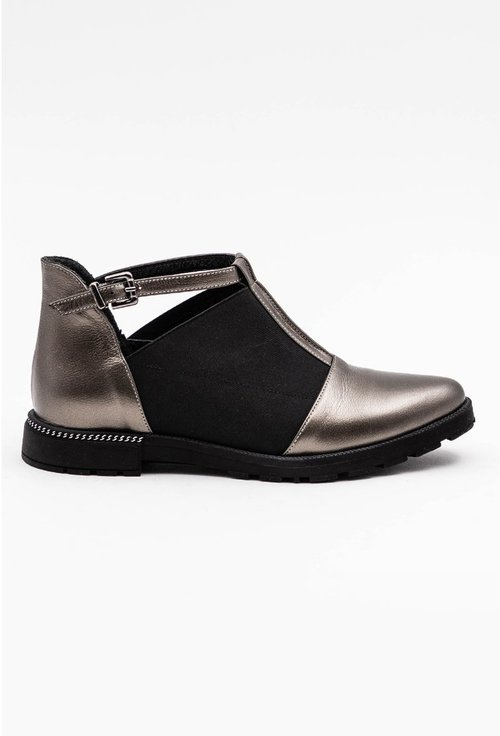 Pantofi casual nuanta bronz cu elastic