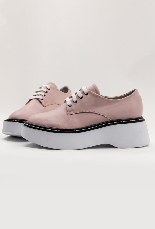 Pantofi casual nuanta roz din piele