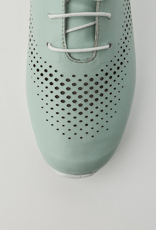 Pantofi casual nuanta verde menta din piele naturala Yasmine