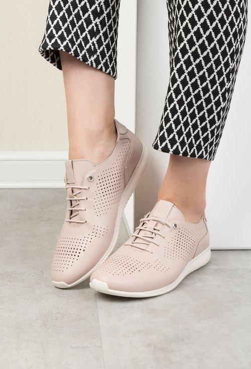 Pantofi casual nude din piele naturala Heba