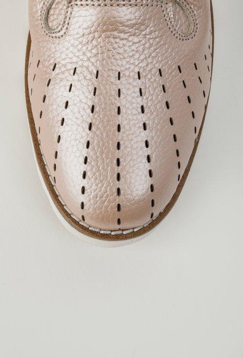 Pantofi casual nude sidefat din piele naturala Lucia