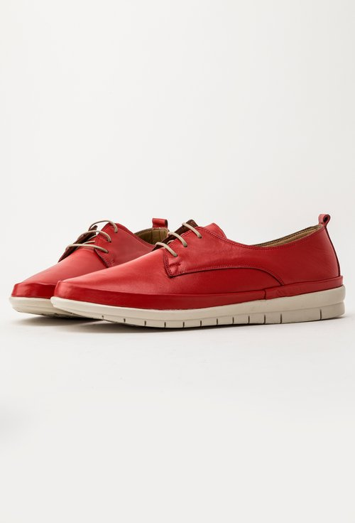 Pantofi casual rosii din piele naturala Jessica