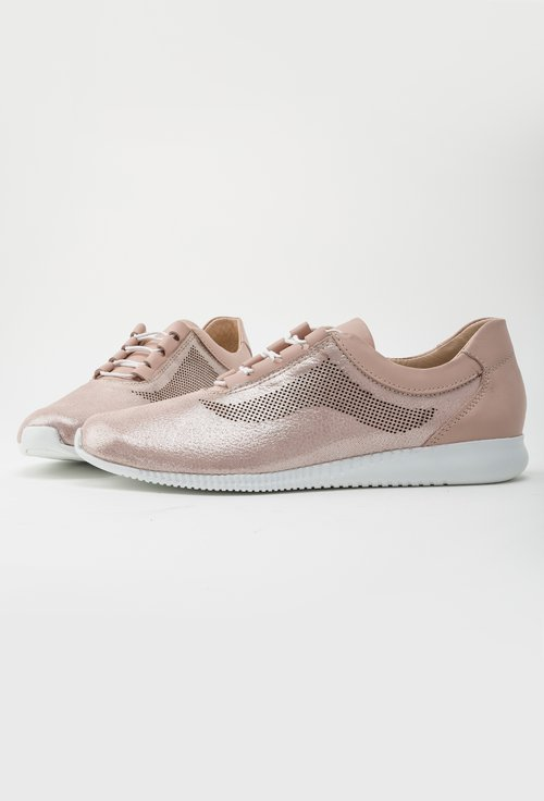 Pantofi casual roz pudrat din piele naturala Freddie