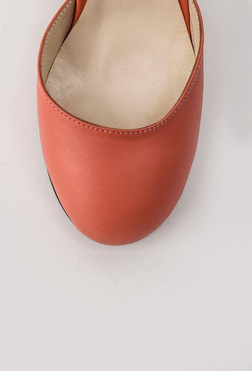 Pantofi corai cu toc multicolor Adonia