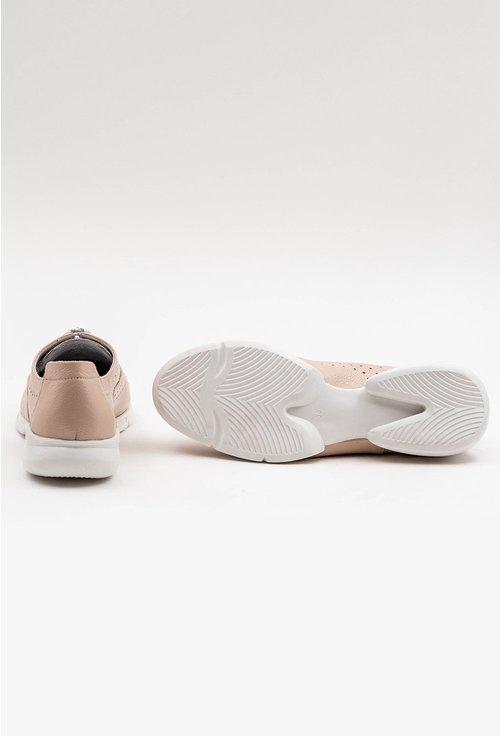 Pantofi din piele naturala nuanta nude cu insertii sclipitoare