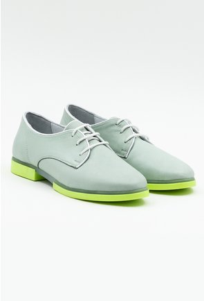 Pantofi din piele naturala nuanta turcoaz pastelat