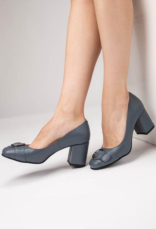 Pantofi gri din piele naturală Adele