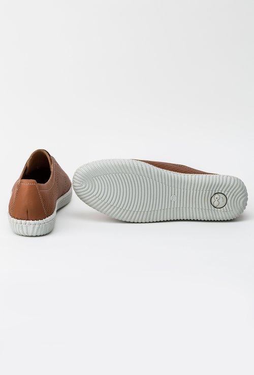 Pantofi maro din piele naturala Alea