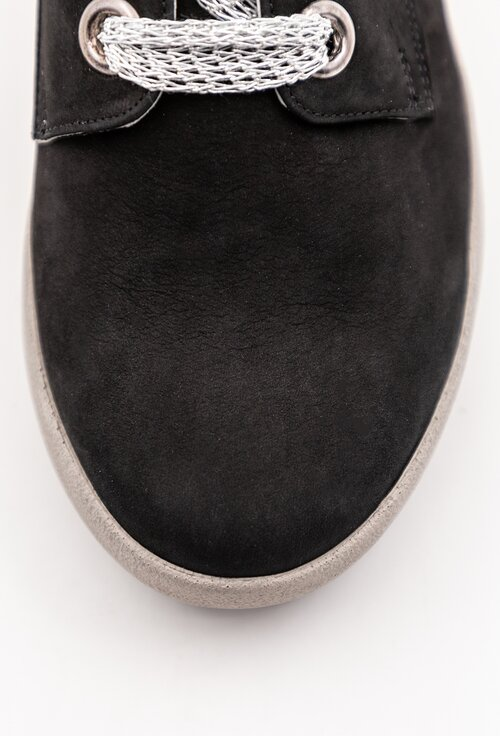 Pantofi negri din piele intoarsa