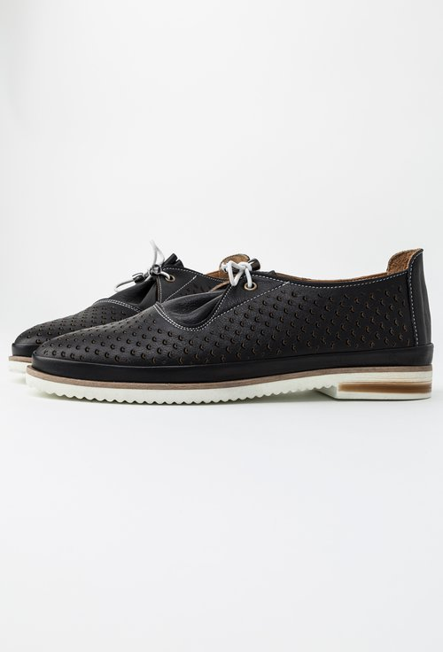 Pantofi negri din piele naturala Adina