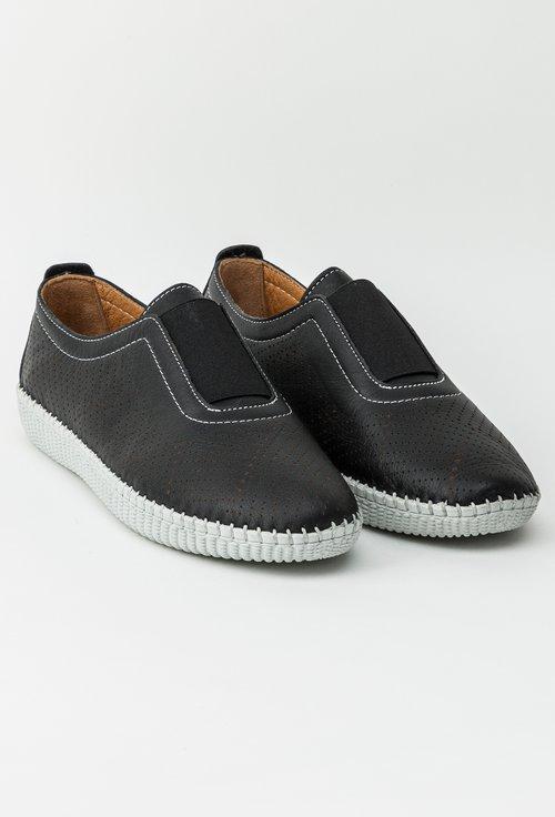 Pantofi negri din piele naturala Alea
